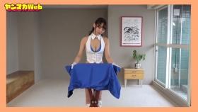 Yuki Mitera in blue swimsuit bikini and table magic 2021058