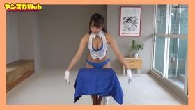 Yuki Mitera in blue swimsuit bikini and table magic 2021062