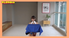Yuki Mitera in blue swimsuit bikini and table magic 2021067