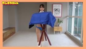Yuki Mitera in blue swimsuit bikini and table magic 2021070