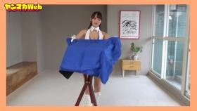 Yuki Mitera in blue swimsuit bikini and table magic 2021072