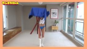 Yuki Mitera in blue swimsuit bikini and table magic 2021073