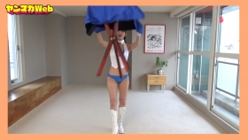 Yuki Mitera in blue swimsuit bikini and table magic 2021074