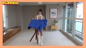 Yuki Mitera in blue swimsuit bikini and table magic 2021078