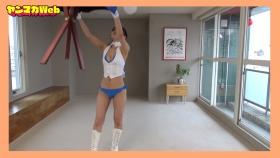 Yuki Mitera in blue swimsuit bikini and table magic 2021080