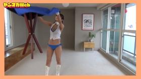 Yuki Mitera in blue swimsuit bikini and table magic 2021081
