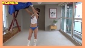 Yuki Mitera in blue swimsuit bikini and table magic 2021083