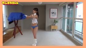 Yuki Mitera in blue swimsuit bikini and table magic 2021084
