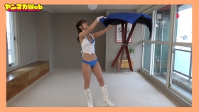 Yuki Mitera in blue swimsuit bikini and table magic 2021088