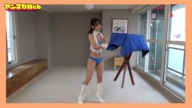 Yuki Mitera in blue swimsuit bikini and table magic 2021090