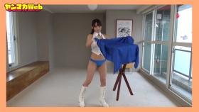 Yuki Mitera in blue swimsuit bikini and table magic 2021091