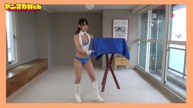 Yuki Mitera in blue swimsuit bikini and table magic 2021092