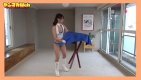 Yuki Mitera in blue swimsuit bikini and table magic 2021093