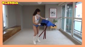 Yuki Mitera in blue swimsuit bikini and table magic 2021094