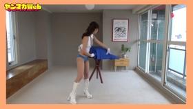 Yuki Mitera in blue swimsuit bikini and table magic 2021095