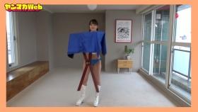 Yuki Mitera in blue swimsuit bikini and table magic 2021099