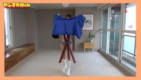 Yuki Mitera in blue swimsuit bikini and table magic 2021100