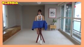 Yuki Mitera in blue swimsuit bikini and table magic 2021104