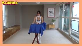 Yuki Mitera in blue swimsuit bikini and table magic 2021105