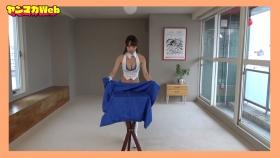 Yuki Mitera in blue swimsuit bikini and table magic 2021106