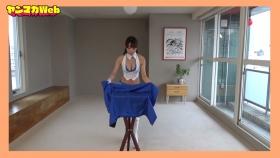Yuki Mitera in blue swimsuit bikini and table magic 2021107