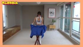 Yuki Mitera in blue swimsuit bikini and table magic 2021108
