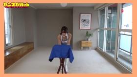 Yuki Mitera in blue swimsuit bikini and table magic 2021109