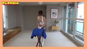 Yuki Mitera in blue swimsuit bikini and table magic 2021112
