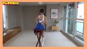 Yuki Mitera in blue swimsuit bikini and table magic 2021113