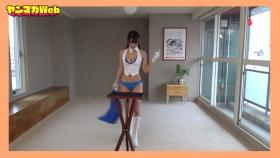 Yuki Mitera in blue swimsuit bikini and table magic 2021114