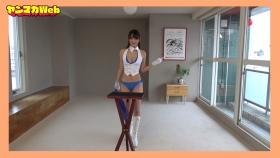 Yuki Mitera in blue swimsuit bikini and table magic 2021115