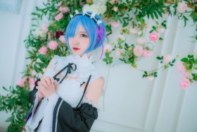 Cosplay Swimsuit Style CostumeRe Zero to Hajime Isekai Seikatsu Maid Costume019