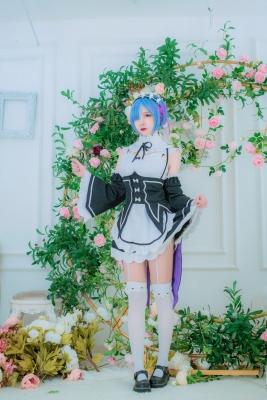 Cosplay Swimsuit Style CostumeRe Zero to Hajime Isekai Seikatsu Maid Costume018