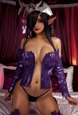 Cosplay Swimsuit-Style Costume: Olga Discordia Croinu The Noble Saint is Dyed in White001
