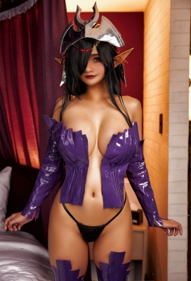 Cosplay Swimsuit-Style Costume: Olga Discordia Croinu The Noble Saint is Dyed in White010