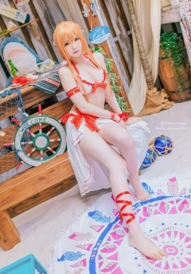 Asuka Yuki Swimsuit Bikini Gravure Swim Version Sword Art Online Cosplay001
