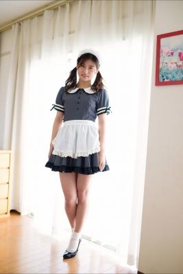 Ayaka Eto White Swimsuit Bikini Maid Costume002