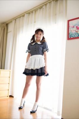 Ayaka Eto White Swimsuit Bikini Maid Costume003