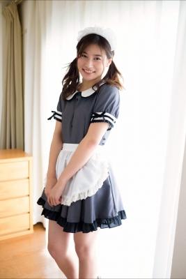 Ayaka Eto White Swimsuit Bikini Maid Costume004
