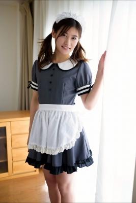 Ayaka Eto White Swimsuit Bikini Maid Costume005