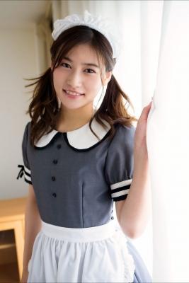 Ayaka Eto White Swimsuit Bikini Maid Costume006
