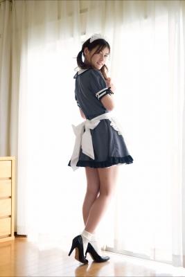 Ayaka Eto White Swimsuit Bikini Maid Costume007