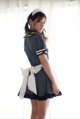 Ayaka Eto White Swimsuit Bikini Maid Costume008