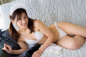 Ayaka Eto White Swimsuit Bikini Maid Costume049