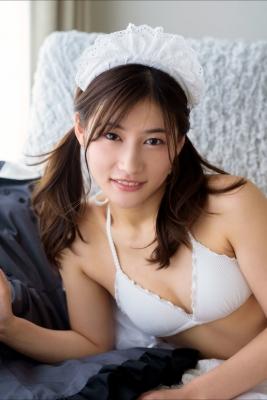 Ayaka Eto White Swimsuit Bikini Maid Costume050