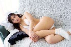 Ayaka Eto White Swimsuit Bikini Maid Costume054