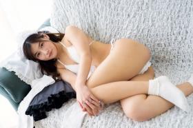 Ayaka Eto White Swimsuit Bikini Maid Costume055