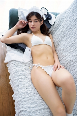 Ayaka Eto White Swimsuit Bikini Maid Costume058