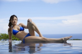 Moemi Katayama swimsuit bikini gravure in blue bikini005