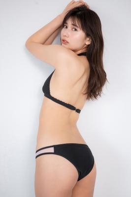 Haruka Arai Black Swimsuit Bikini Stylish and Cute 2021007